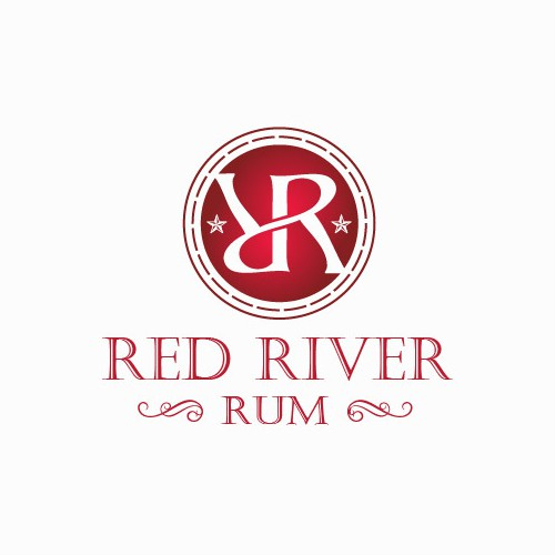 Rum logo with the title 'Help Red River Rum with a new logo'
