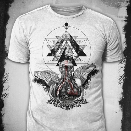 Occult design with the title 'T-Shirt Design'