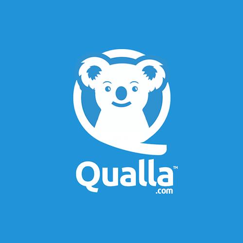 Koala logo with the title 'Qualla'