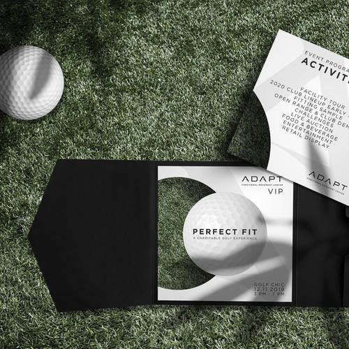 VIP design with the title 'Golf invitation'