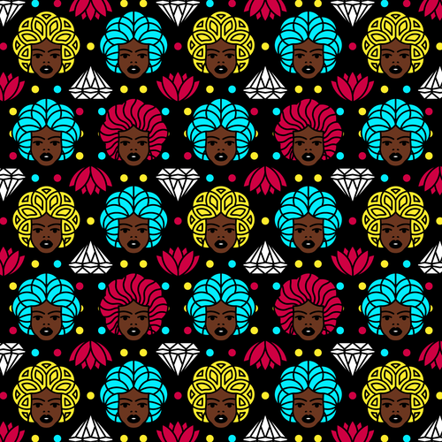 Women artwork with the title 'Pattern design'