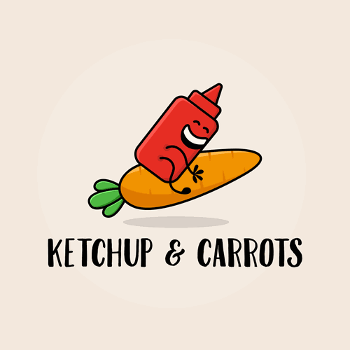 Ketchup design with the title 'Logo concept for blog logo'