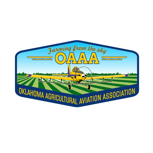 Association logo with the title 'Oklahoma Agricultural Aviation Association'