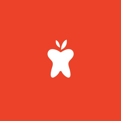 Apple logo with the title 'Clean Logo Design Design for An Apple A Day Family Dentistry'