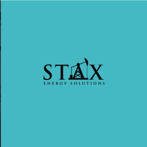 Oilfield logo with the title 'Logo for Stax Energy Solutions'