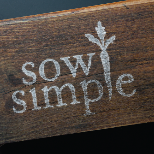 Gardening logo with the title 'Create a simple logo for a gardening company'