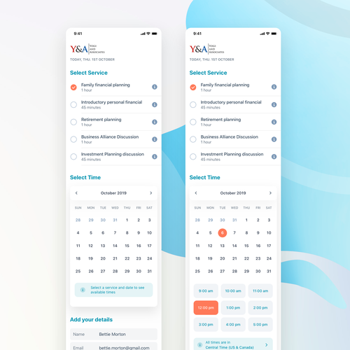 Accounting website with the title 'Booking Accounting Service - Mobile View'