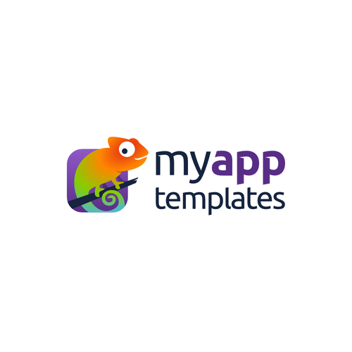 IPhone logo with the title 'Design a modern logo for MyAppTemplates'