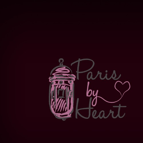 Paris logo with the title 'hand drawn logo design'