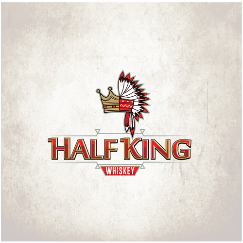 Black crown logo with the title 'Half King'