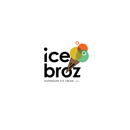 Ice cream logo with the title 'Bold logo design for ice broz'