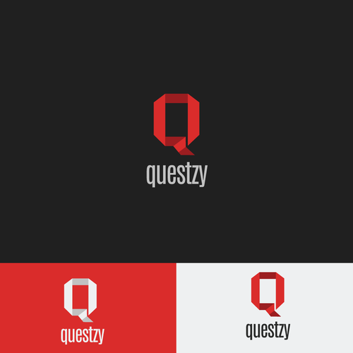 Clean logo with the title 'Questzy'