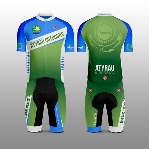 Kit design with the title 'Atyrau Атырау cycling kit'