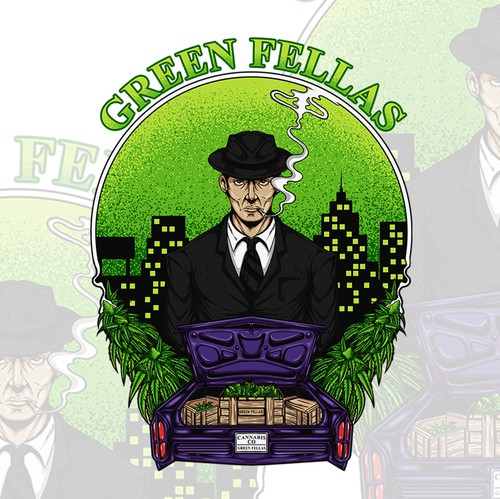 Mafia design with the title 'mafia of cannabis'