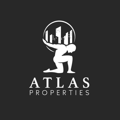 Facade logo with the title 'Bold and Strong Logo for a real estate company'