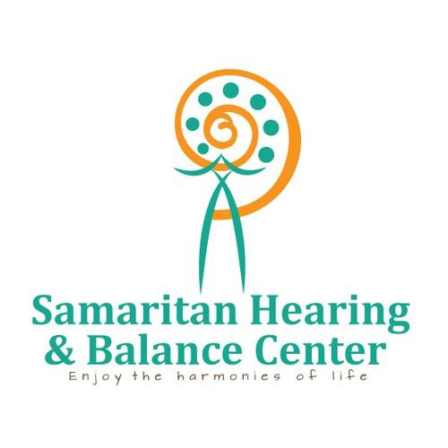 Hearing design with the title 'Help Samaritan Hearing & Balance Center with a new logo'
