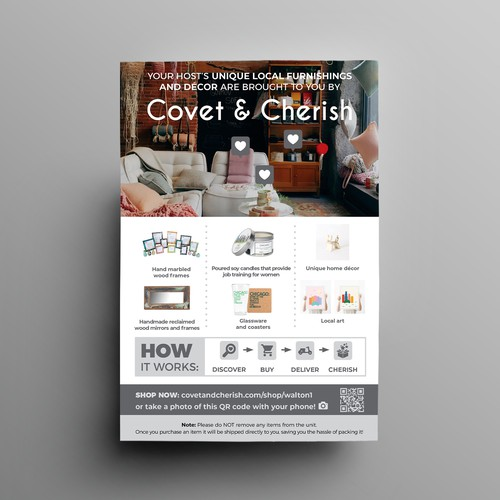 Structural design with the title 'Marketing flyer for home decor products'