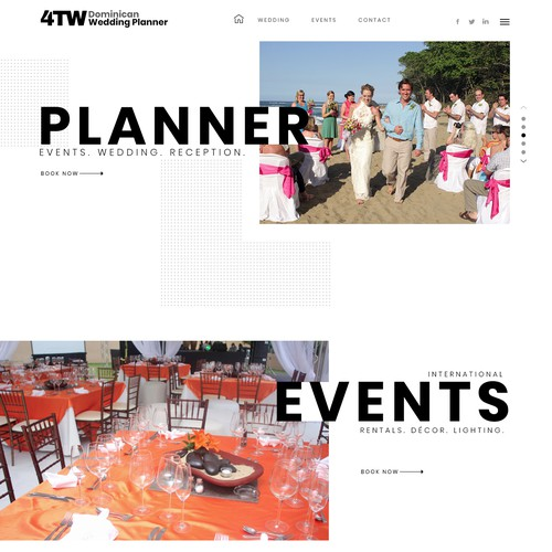 Event design with the title 'Wedding Event Planner'
