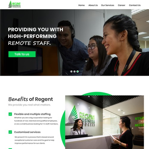 Mobile responsive website with the title 'Web design'