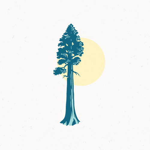 Tree service logo with the title 'Majestic sequoia'