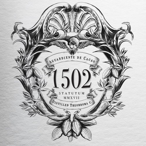 Detailed design with the title '1502'