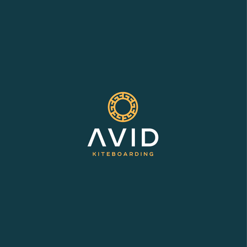 School design with the title 'Avid Kiteboarding Logo'