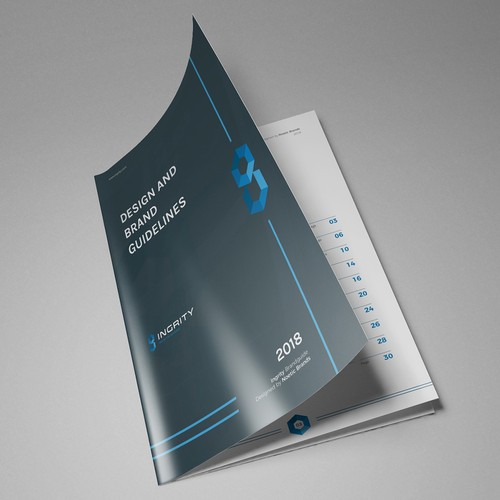 Style guide design with the title 'IT Consulting Brand guide'