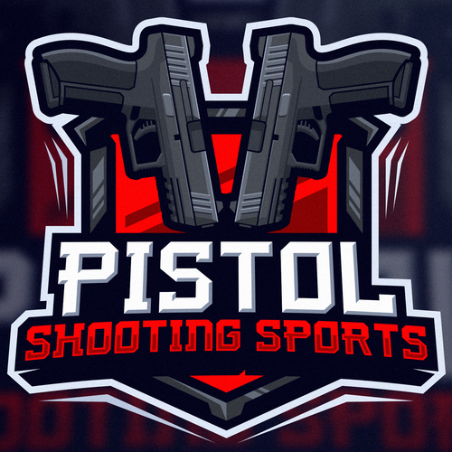 Shooting logo with the title 'Pistol'
