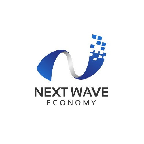 System design with the title 'Next Wave Economy Logo Design'
