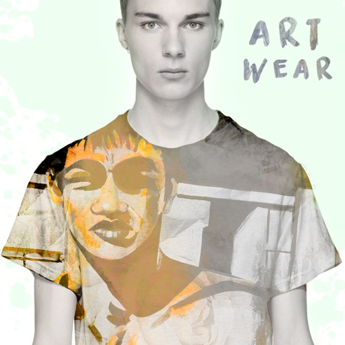 Avant garde design with the title 'T-shirt Design Artistic Cover'