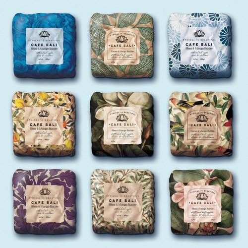Soap design with the title 'Boutique soap bar packaging concept'