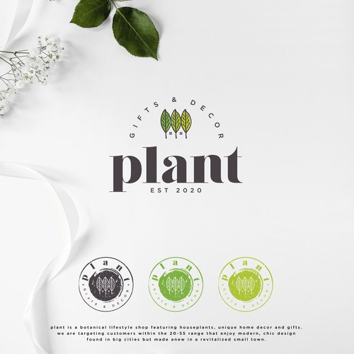 Plant brand with the title 'Plant home decor and gifts'