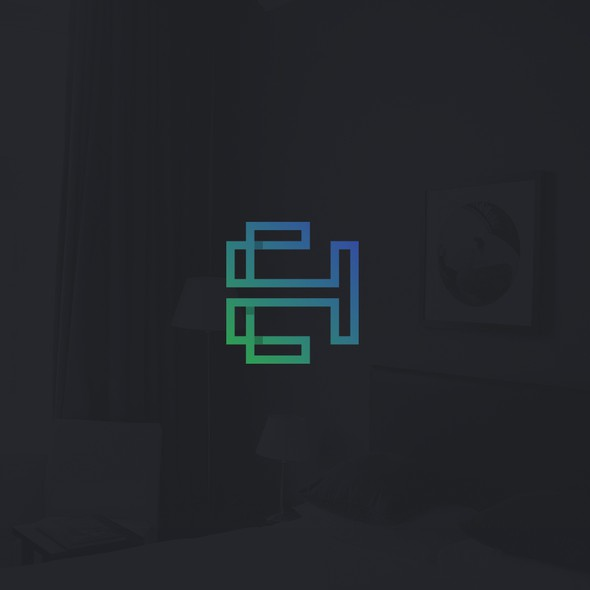 Loop design with the title 'EH monogram'