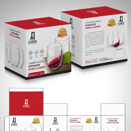 Kitchenware packaging with the title 'package and Logo design'