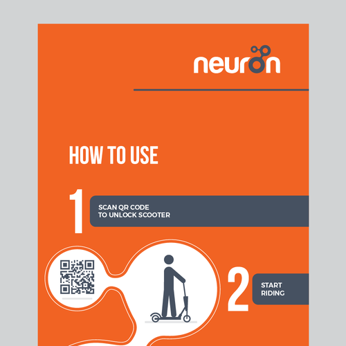 Scooter design with the title 'neuron signage design'