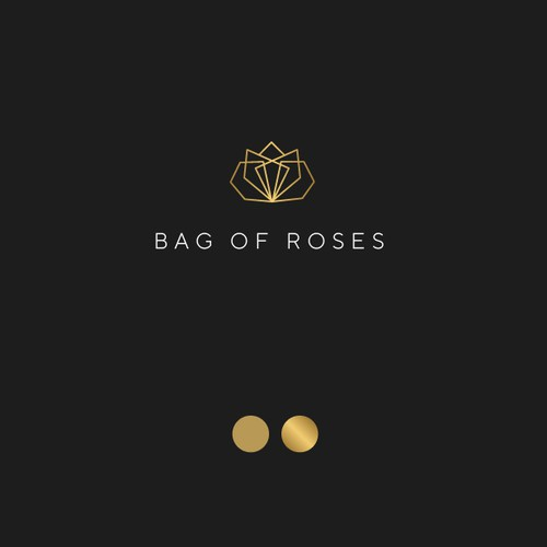 Black rose logo with the title 'BAG OF ROSES'