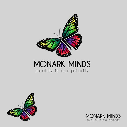 Vivid logo with the title 'Detailed Logo Concept for Monark Minds'