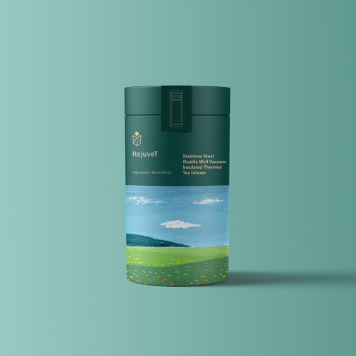 Tube packaging with the title 'Packaging design for tea connoisseurs'