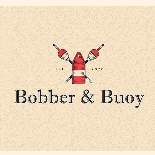Fishing logo with the title 'Bobber and Buoy 2'