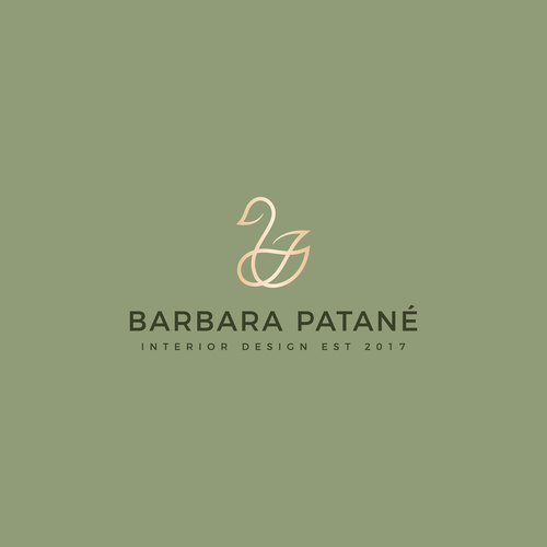 Swan design with the title 'Barbara Patané'