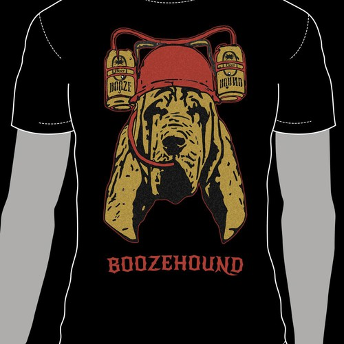 Hound design with the title 'Your help is required for a new t-shirt design'