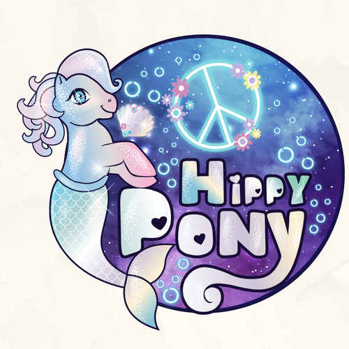 Underwater logo with the title 'Mermaid mlp'