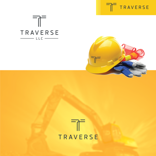 Outline logo with the title 'Traverse'