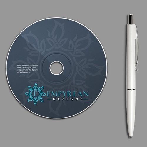 E design with the title 'Sophisticated Logo for Empyrean Designs'