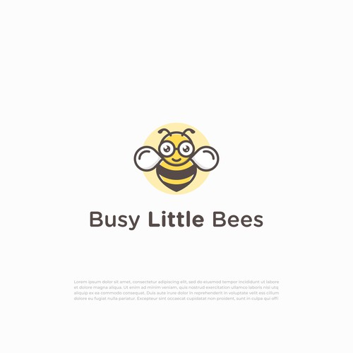 Honey bee logo with the title 'Busy Little Bees'