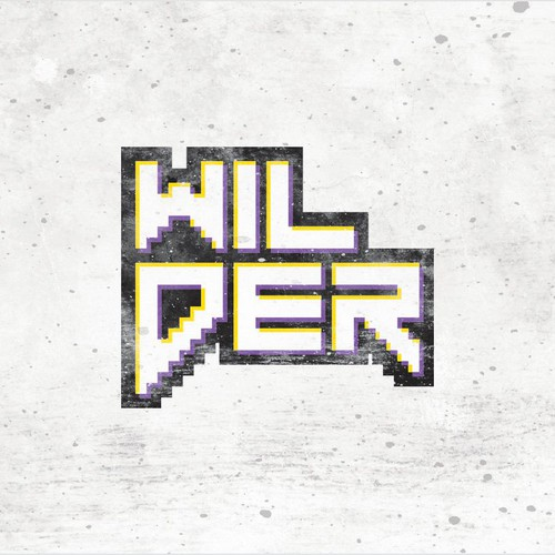 "8 bit logo with the title 'Logo Design for ""Wilder""'"