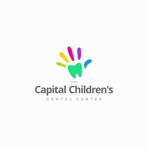 Full color logo with the title 'Logo Design for Capital Children's 2'