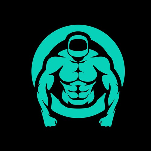 Personal trainer design with the title 'Simple and Iconic Fitness Logo'
