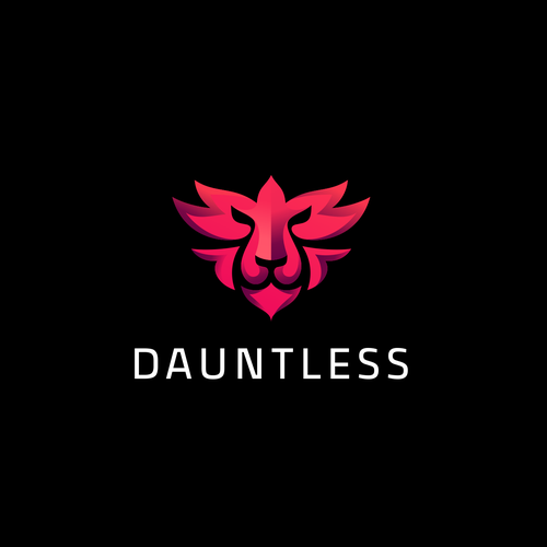 Lion King logo with the title 'DAUNTLESS'