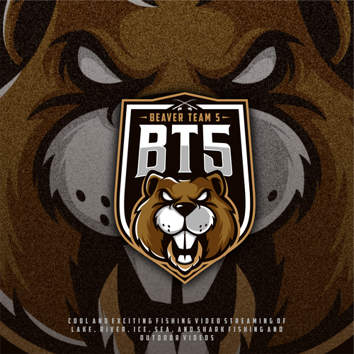 Beaver design with the title 'Beaver Team %'